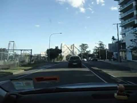 Traveling By Car Over The Walter Taylor Bridge In Indooroopilly Brisbane. John Coyle Video