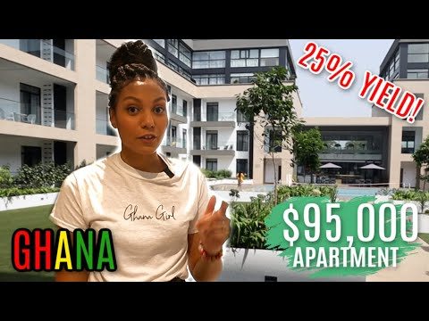 $95,000 INVESTMENT PROPERTY IN GHANA 25% YIELD!! | LUXURY APARTMENT TOUR IN GHANA