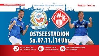 Hansa Rostock gegen Würzburger Kickers - Zusammenstehen!