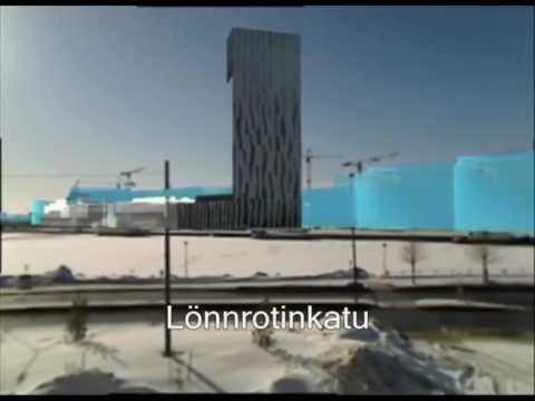 Mobile AR visualization of Jätkäsaari/Kämp Tower plans in Helsinki city