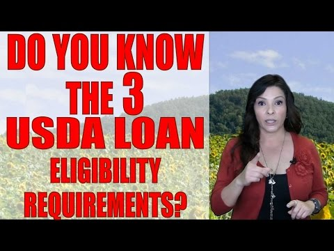 3 Eligibility Requirements of this ZERO DOWN program- USDA loans in2017 | Your San Diego Lender