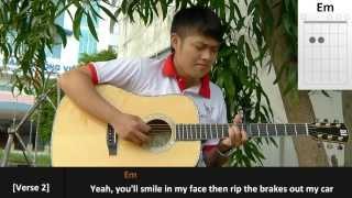 [Hướng Dẫn Đệm Hát] Grenade Chords - Bruno Mars (guitar)