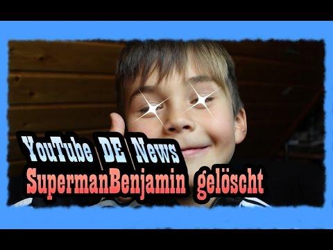 SupermanBenjamin wurde GELÖSCHT ? I YouTube Deutschland News I Jamera Kanal