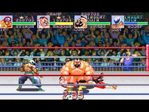 Saturday Night Slam Masters: Team Battle Royale arcade 2 player Netplay 60fps