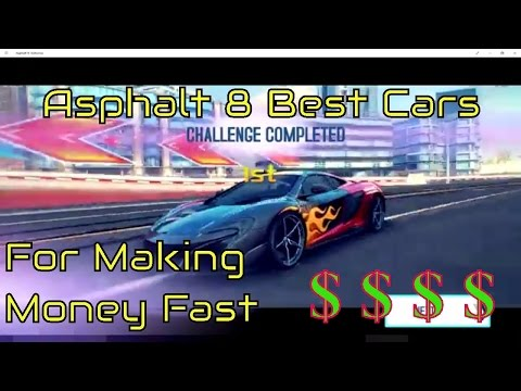 Asphalt 8 Best Cars to buy for Farming Career Season 9+Mastery Farming Guide How to get money fast