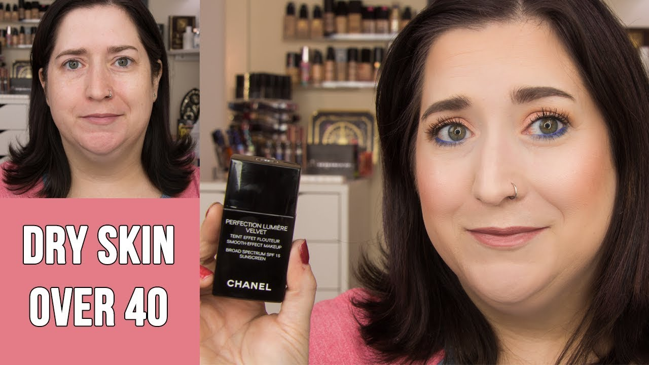 CHANEL PERFECTION LUMIERE VELVET Foundation | Dry Skin Review & Full Day Wear Test