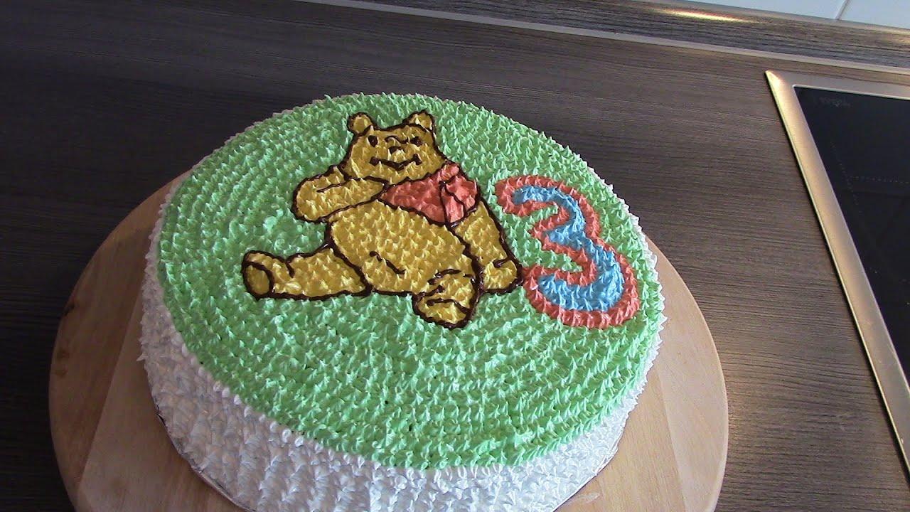 Winnie Pooh Torte - YouTube