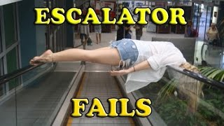 Funny Escalator Fail Compilation 2015 [NEW]