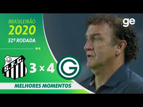SANTOS 3 X 4 GOIÁS | MELHORES MOMENTOS | 32ª RODADA BRASILEIRÃO 2020 | ge.globo