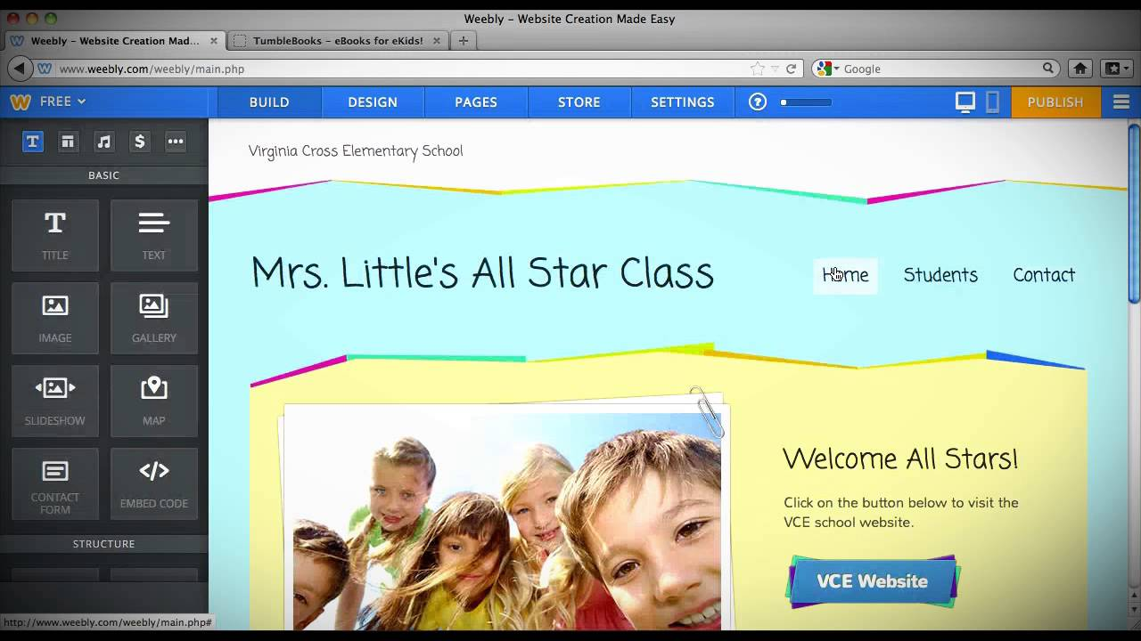 how to create a teacher website using weebly