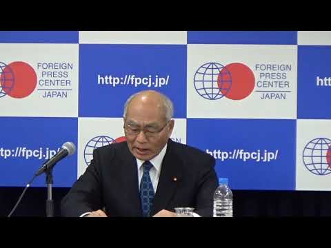 FPCJ Press Briefing by Minister for Reconstruction (from the Great East Japan Earthquake)