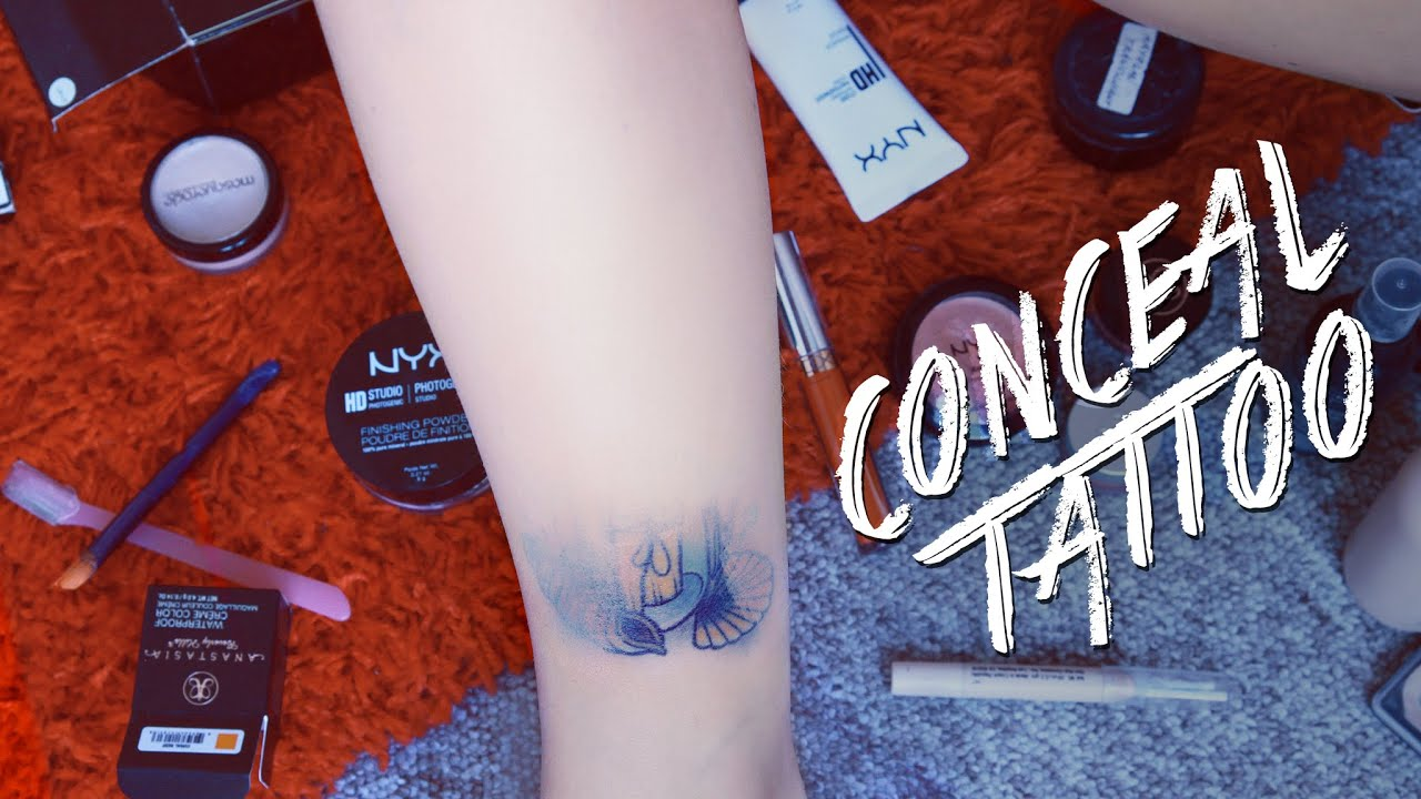 How to cover up tattoo with makeup youtube for How to cover tattoos