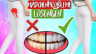 Nervige Mädchen Probleme und Lösungen! Gelbe Zähne, Perioden Fail & Mehr!