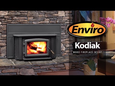 Kodiak Wood Fireplace Insert Burn Example - YouTube