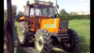 BACCHINAGRI: Fiat 1180 Dt & New Holland TL100A  con Wendrame