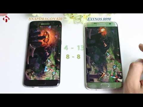 So sánh Hiệu Năng Chip SnapDragon 820 và Exynos 8890 trên Samsung Galaxy S7 Edge | HungMobile