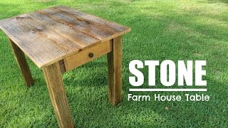 Farm House Table with Drawer - Reclaimed Lumber