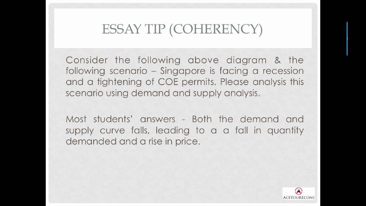 supply and demand essay sample paper eco class org economic  jc econs essay 8 golden tips jc econs essay 8 golden tips