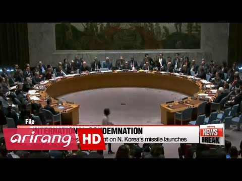 ARIRANG NEWS BREAK 10:00 UN Security Council slams North Korea missile tests