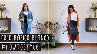 Polo básico blanco #howtostyle | That Style