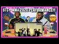 BTS 방탄소년단 Black Swan Perf. + ON + Life Goes On + Dynamite @ 2020 MMA| Brothers Reaction!!!!