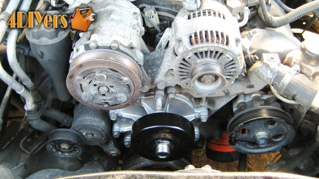 diy dodge 4 7l v8 water pump replacement
