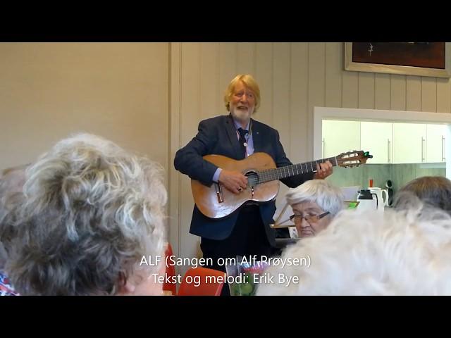 Trubaduren Geir Madsen synger gamle klassikere pa Horne skole