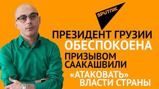 """Гаспарян: Президент Грузии обеспокоена призывом Саакашвили """"атаковать"""" власти страны"""