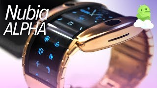 Nubia Alpha hands-on: bendable, foldable, wearable phone!
