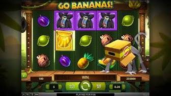 NetEnt Go Bananas Video Slot - Game Play