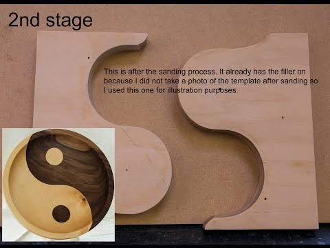 Woodturning How To make A Yin Yang Template.