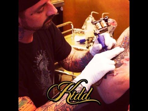 Tattoo Time Lapse - Timothy Kidd - Moth Tattoo - Part 1 - Mantra Tattoo