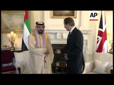 Prime Minister Cameron hosts UAE President at Downing St