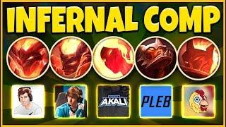 INFERNAL TEAM COMP 2019 (NEW INFERNAL SKINS) THE MOST OP COMP EVER - League of Legends