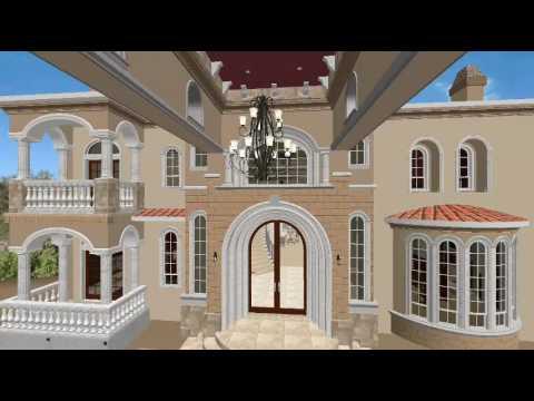 Front elevation los largos granite bay california 3d for 3d house walkthrough