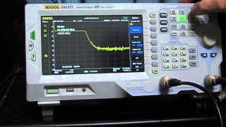 rigol dsa 815 spectrum analyzer test of a b hf lp filter part 1