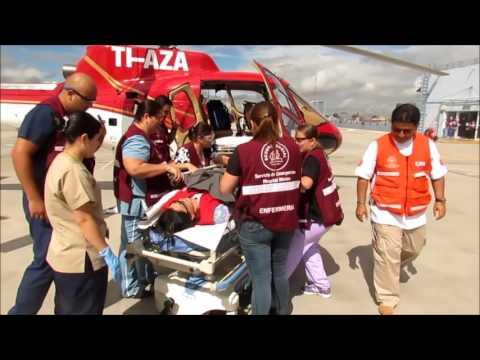 Vídeo Transporte aeromedico curso