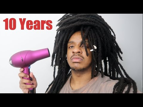 Rinsing my dreads for the first time in 10 years..