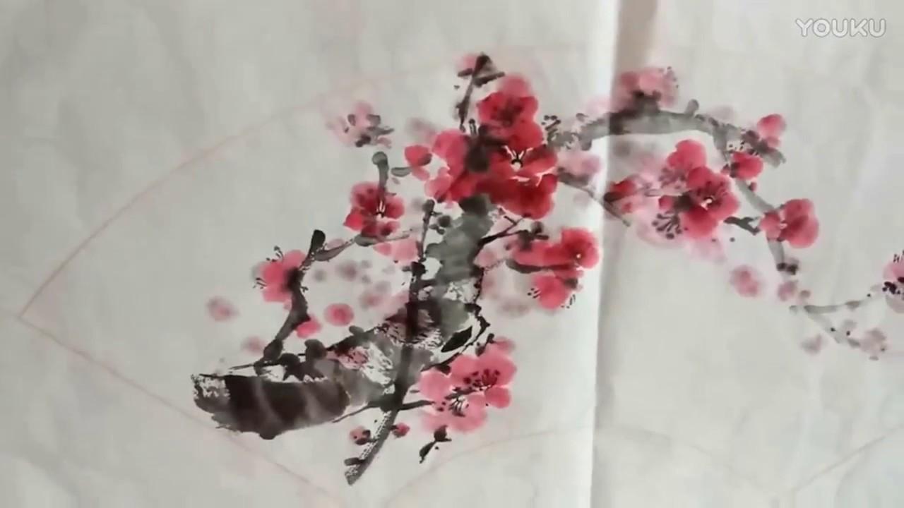 chinese art painting cherry blossom youtube