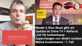 TESLA Model 3 in China nur Standard/Mid Range + kostenloses Superchargen mit Referral online buchbar