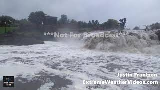9-20-2018 Sioux Falls, SD   Flooded Roads and Sioux Falls River Flooding