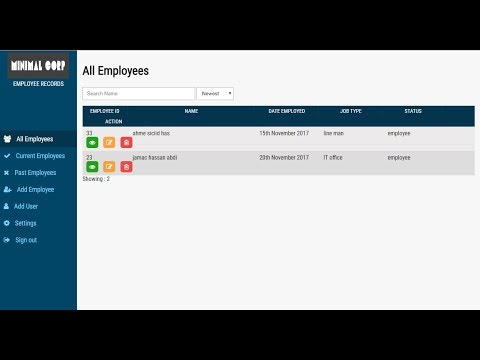 employee records management system Employee Record Management System - YouTube