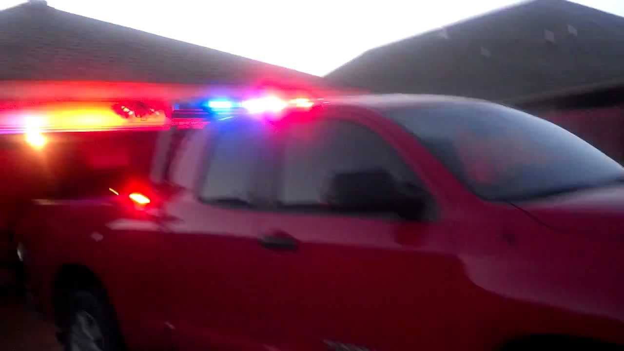 Stokes Brown Toyota >> Toyota Tundra Police lights - YouTube