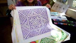 Ink work using Tsukineko Inks by Quilters Treasure
