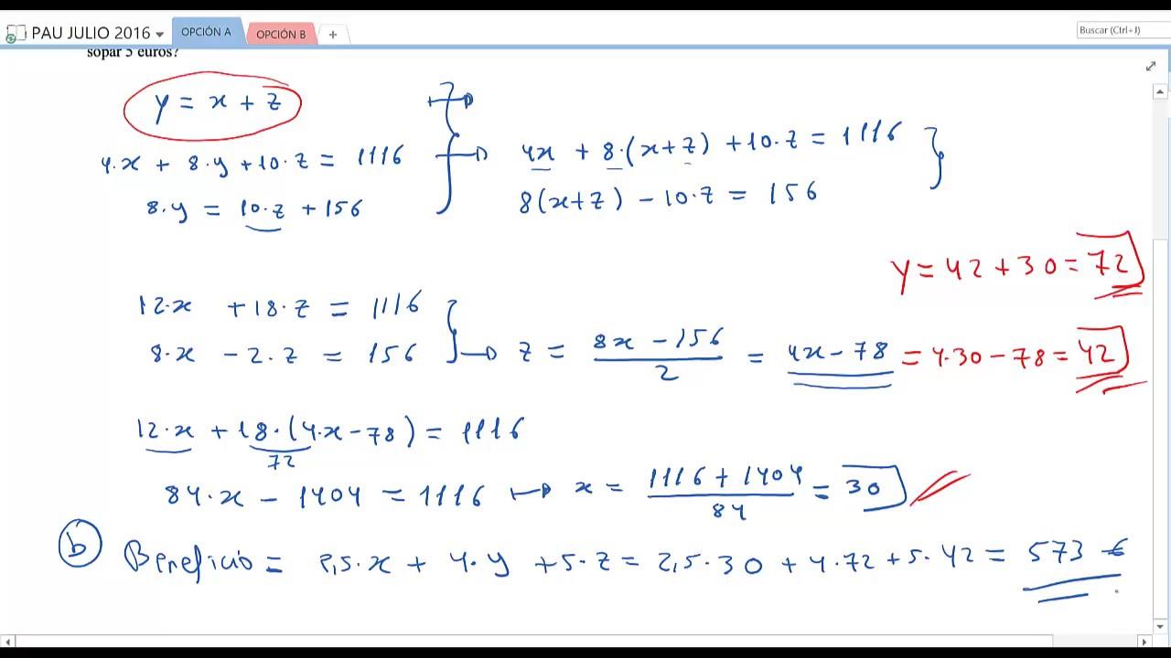 Matemáticas Aplicadas a las Ciencias Sociales II: Julio