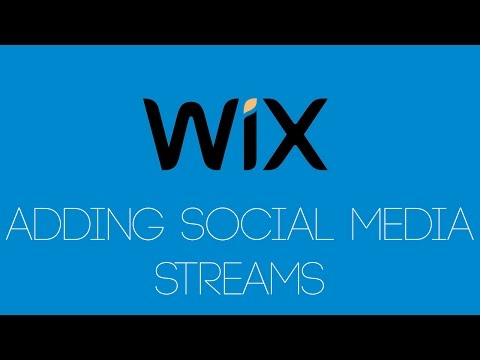 Adding Social Media Feeds In Wix  - Wix -.com Tutorial - Wix Tutorials For Beginners