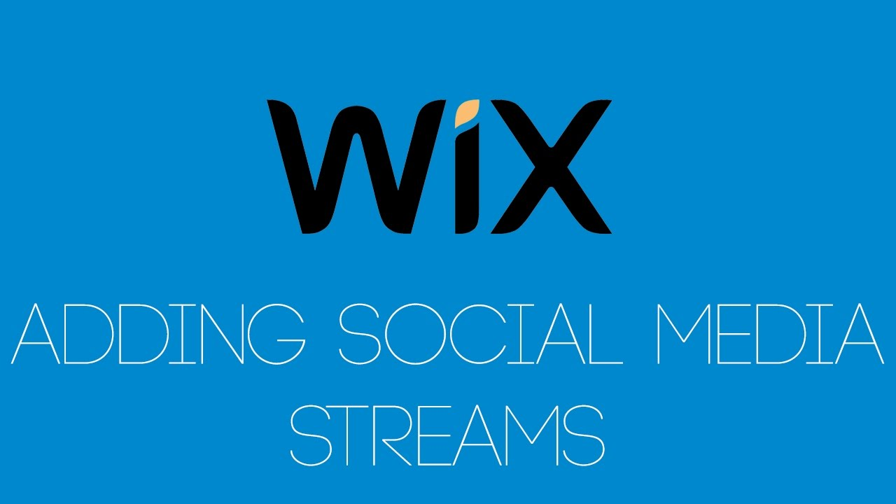 Adding Social Media Feeds In Wix  - Wix -.com Tutorial - Wix Tutorials For Beginners image