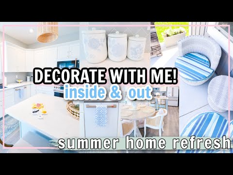 NEW!🌻 SUMMER HOME REFRESH! DECORATE WITH ME! | HOME DECOR IDEAS 2021! Alexandra Beuter