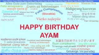 Ayam   Languages Idiomas - Happy Birthday