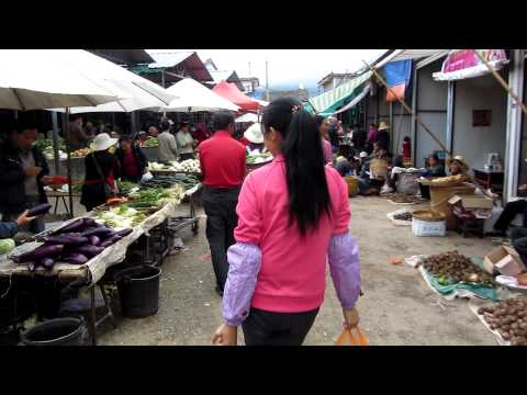 Regional market at a Chinese village